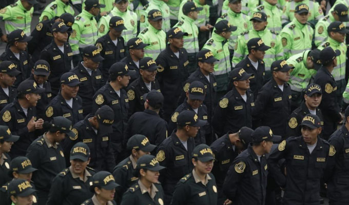 Seis mil nuevos policías se incorporaron hoy al servicio de la seguridad del país