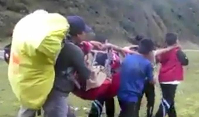 Áncash: escolares rescatan a turista en Parque Nacional Huascarán