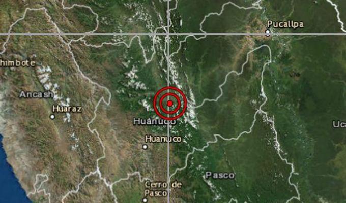 Sismo de magnitud 3.6 remeció Huánuco esta mañana