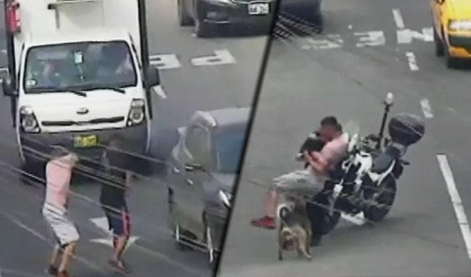Banda en Barrios Altos: sujetos armados apuntaban a conductores en movimiento