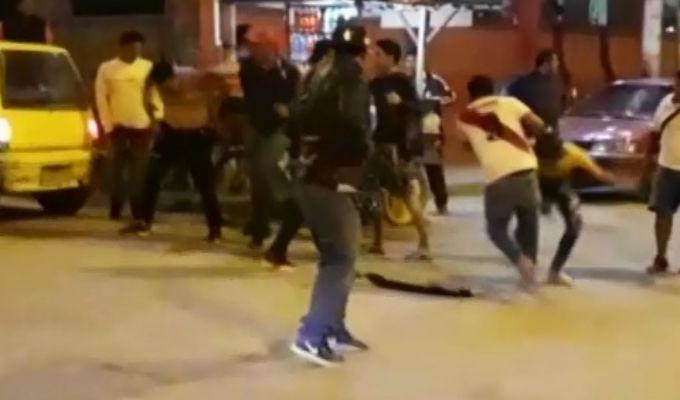 Tumbes: agrede a mujer que intentaba parar pelea callejera