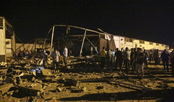 Libia: ataque a centro de migrantes deja al menos 40 muertos