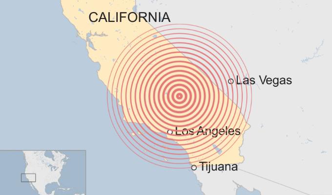 EEUU: nuevo sismo de 7,1 grados remeció a California