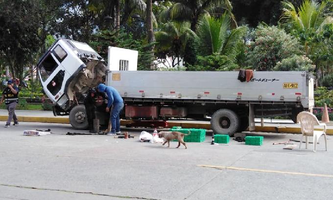 Cusco: PNP interviene camión cargado con 200 paquetes de cocaína