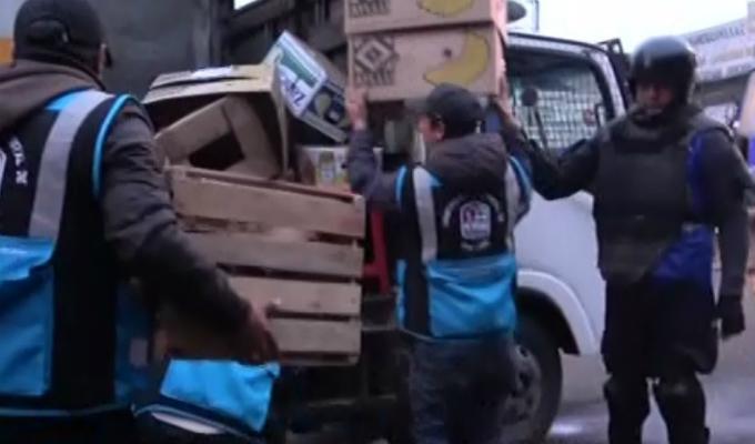 San Luis: desalojan a ambulantes de los alrededores del Mercado de Frutas