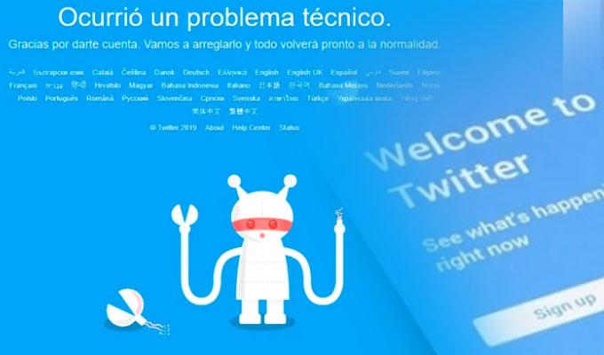 Twitter sufre una caída mundial durante una hora