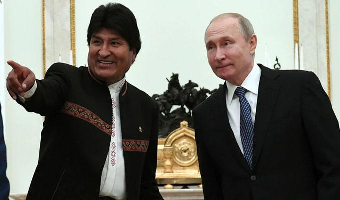 Evo Morales y Putin firman alianza para construir central nuclear