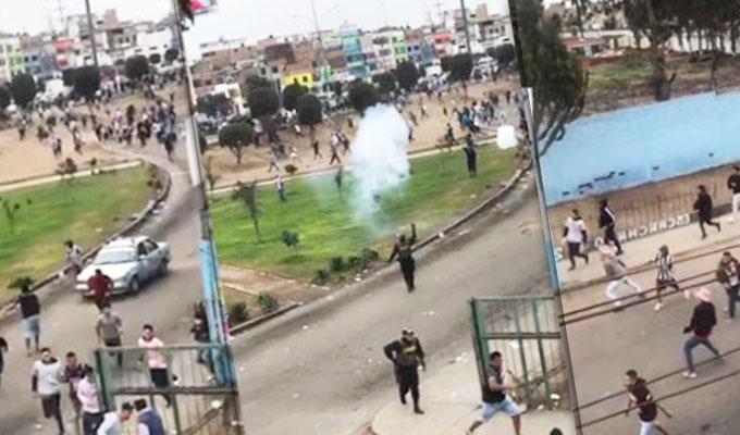 Presuntos hinchas de Alianza Lima y Sport Boys se enfrentaron en las calles del Callao