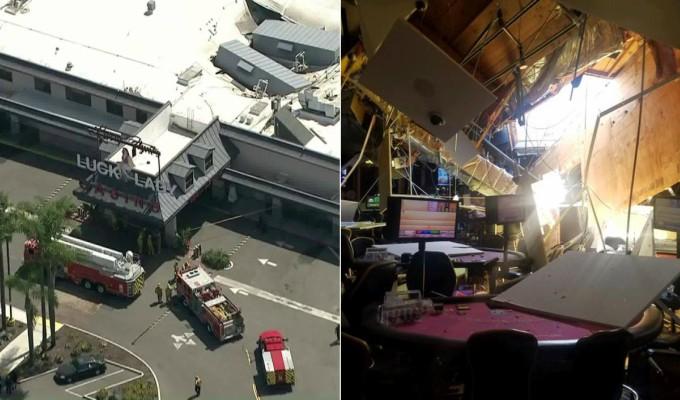 Derrumbe del techo de un casino deja varios heridos