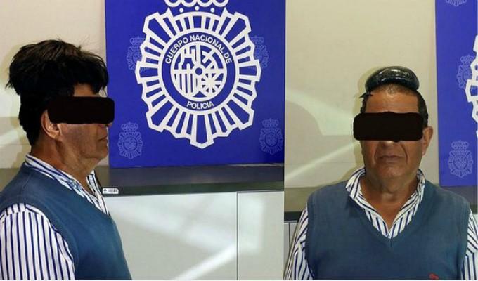 España: hombre es detenido por llevar cocaína escondida bajo su peluca