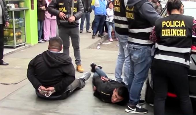 Los Olivos: capturan a 'marcas' que iban a asaltar a cambista