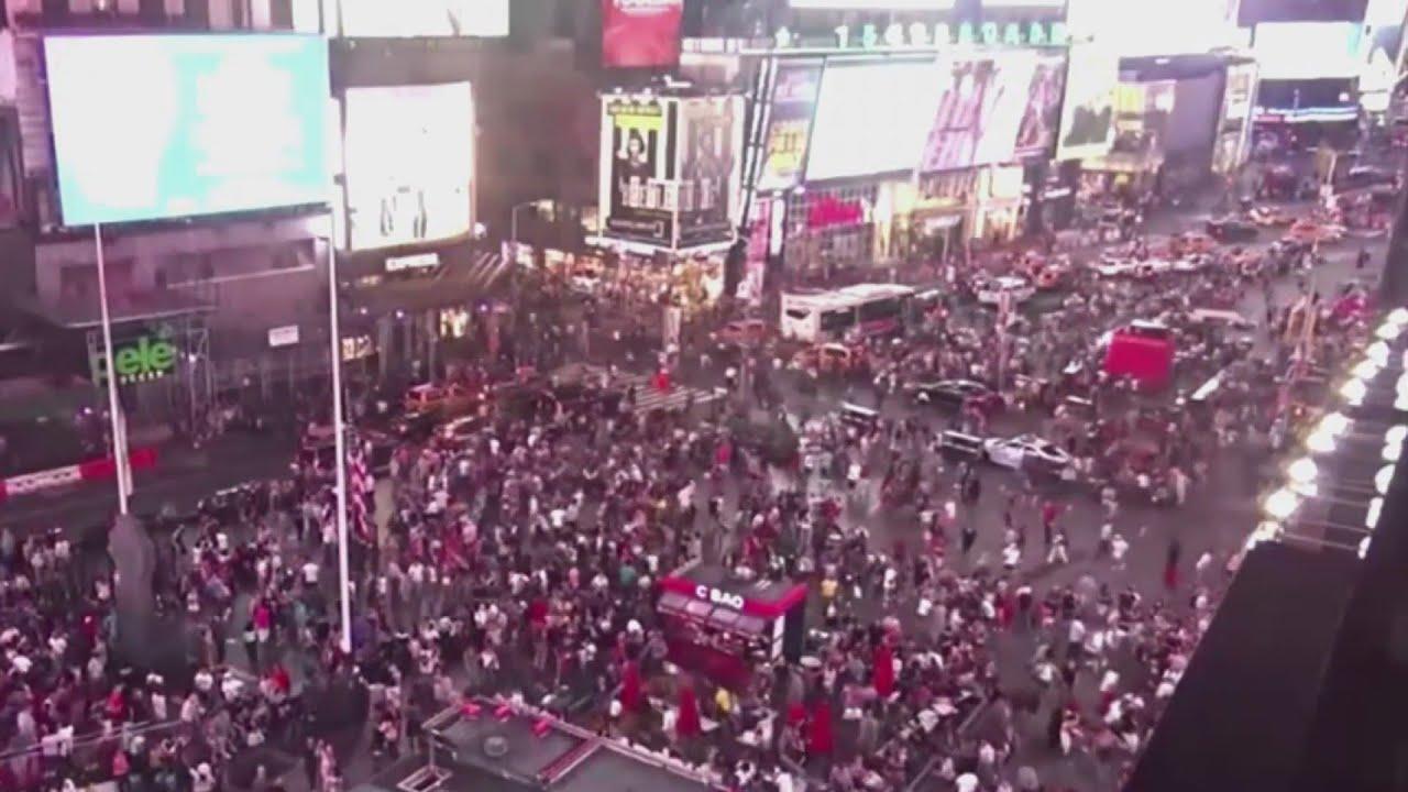 Pánico en EEUU: al menos 9 heridos por estampida humana en Times Square