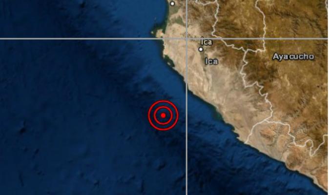 Sismo de magnitud 4.8 remeció el departamento de Ica