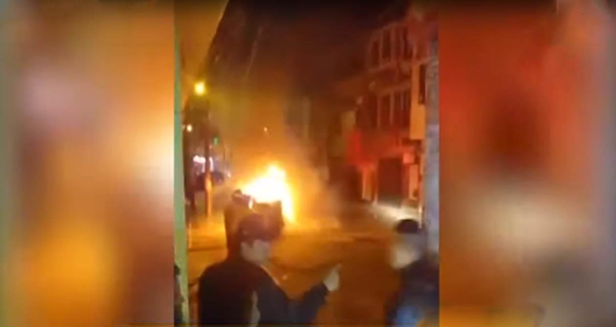 Chincha: mototaxi se incendia en pleno recorrido