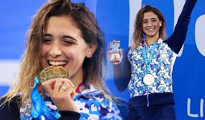 Lima 2019: nadadora argentina hace historia tras ganar el oro por tercera vez