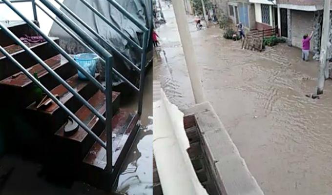 Comas: aniego por desborde de acequia afecta a decenas de vecinos