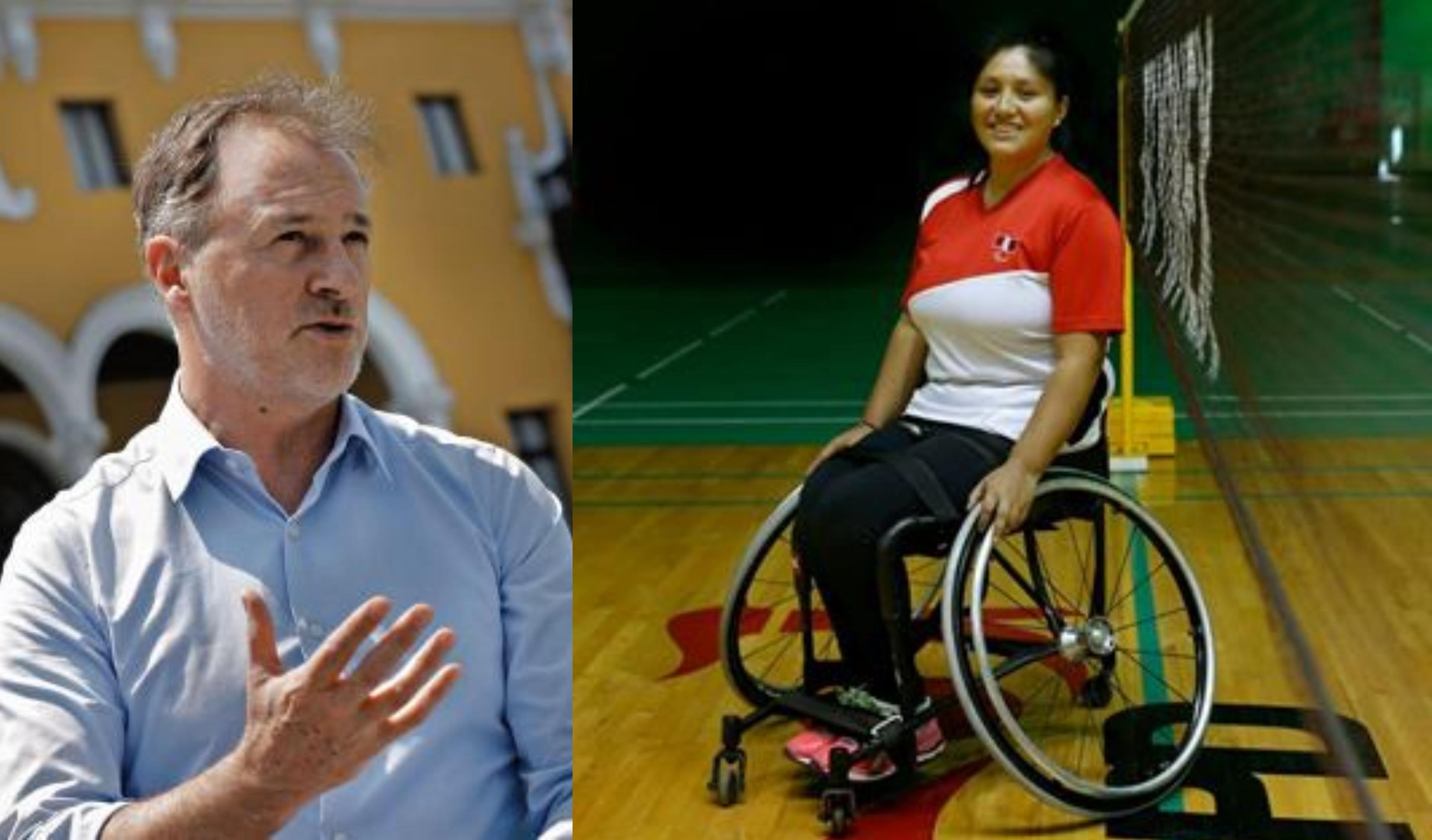 Muñoz Wells acepta reto viral 'Ponte en mi silla' que favorece a personas con discapacidad