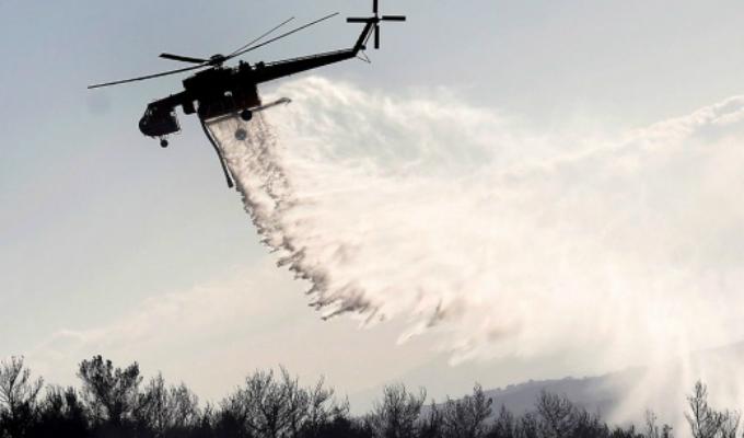 Grecia: voraz incendio afecta la isla de Eubea