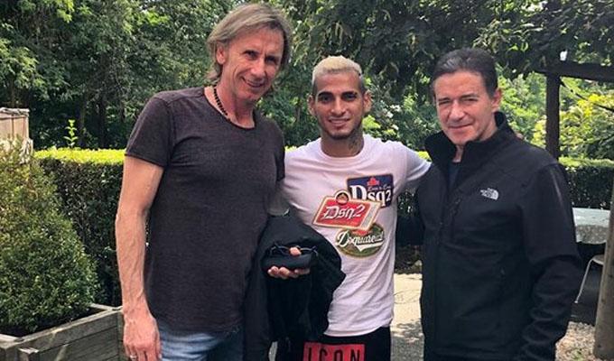 Ricardo Gareca se reunió con Miguel Trauco en Francia