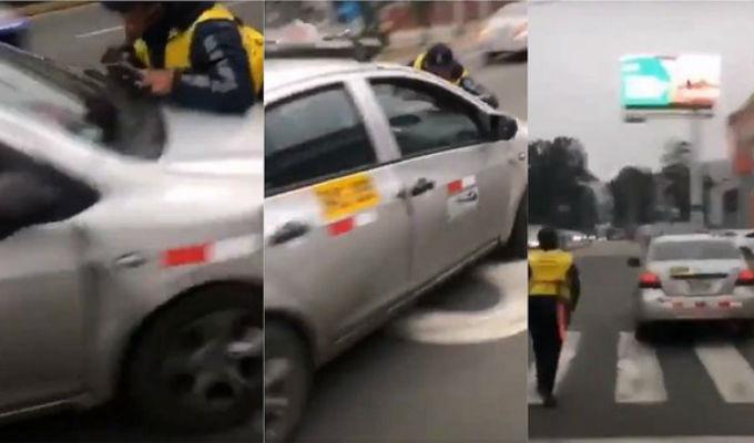 La Molina: Taxista que atropelló a inspector municipal fue detenido