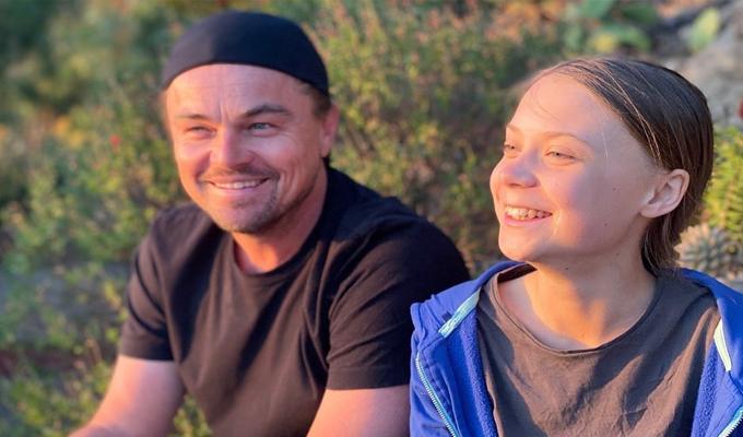 """DiCaprio se reunió con Greta Thunberg: """"gracias a ella y a los jóvenes activistas soy optimista"""
