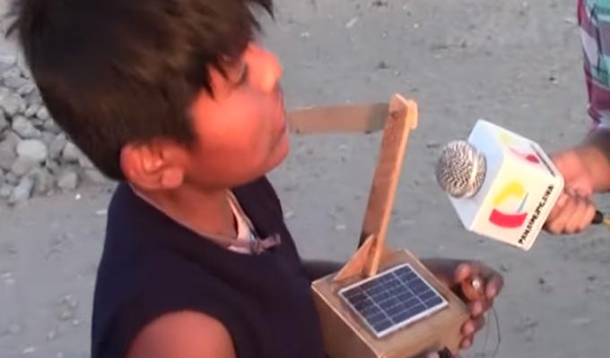 Ica: niño crea un aerogenerador con objetos reciclados para dar energía a su vivienda   Panamericana TV - Panamericana Televisión
