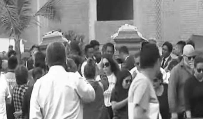 Callao: restos de jóvenes muertos en Mc Donald's fueron enterrados