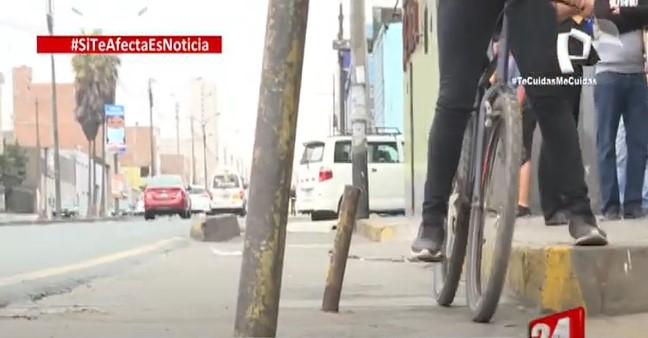 Si te afecta es noticia: Ciclovía en mal estado prevalecen y afectan a ciclistas