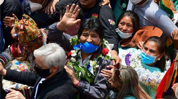 Evo Morales regresó a Bolivia después de su exilio en Argentina
