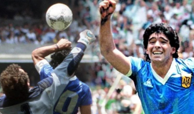 """Maradona siempre será recordado por el gol con la """"Mano de Dios"""""""