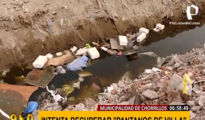 Municipalidad de Chorrillos pide acción del Gobierno y MML por Pantanos de Villa