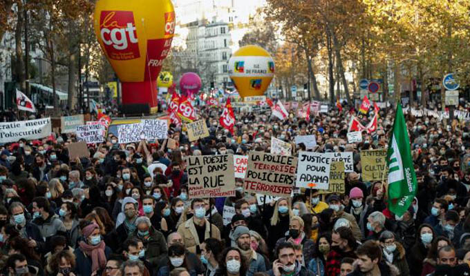 VIDEO: Graves incidentes en Francia durante protestas contra ley de seguridad