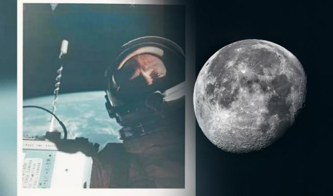 Subastan el primer selfie espacial hecho en la Luna