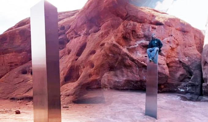 Desaparece el misterioso monolito de metal hallado en un desierto de EEUU