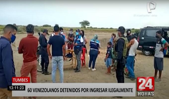 Tumbes: intervienen a 60 extranjeros ilegales y 20 de ellos dio positivo al COVID-19