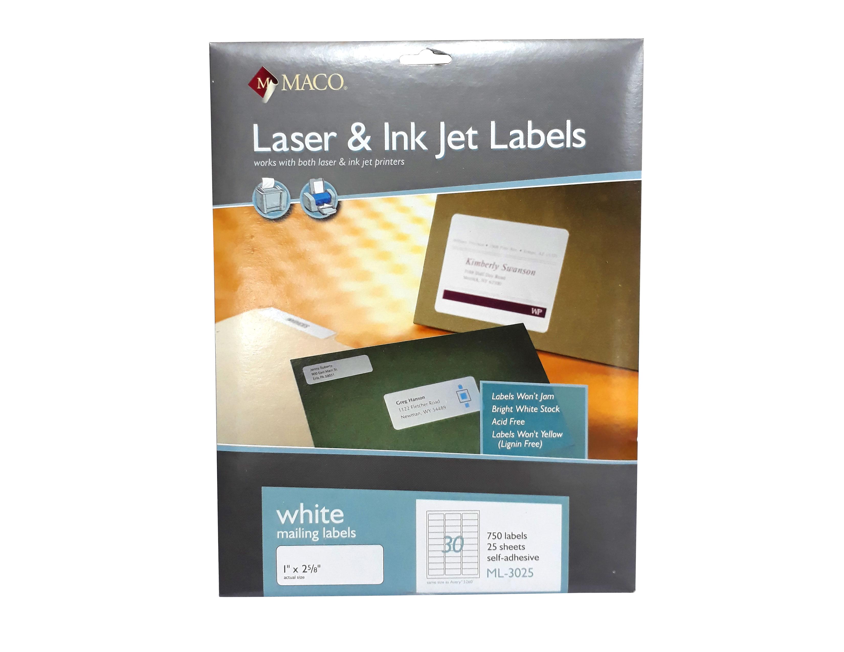 ETIQUETAS 1X2 5/8 ML-3025 LASER & INK-JET
