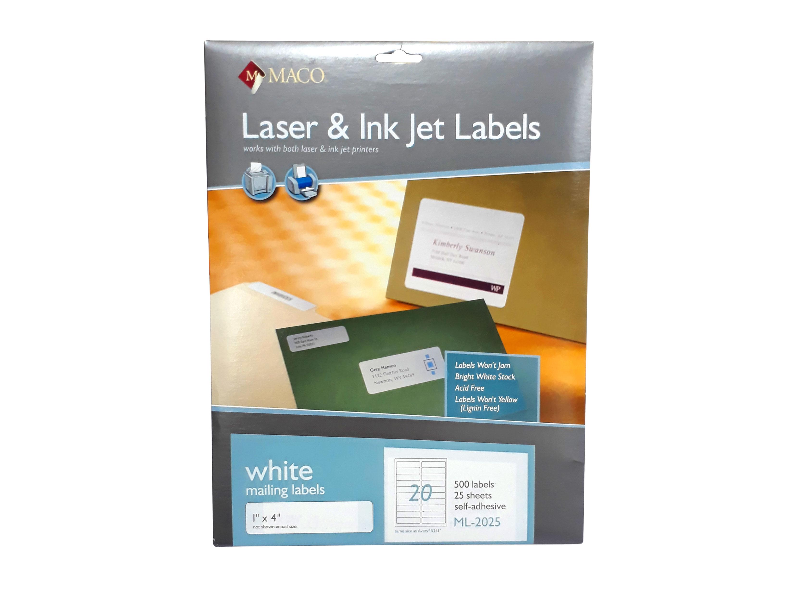 ETIQUETAS 1X4 ML-2025 LASER & INK-JET
