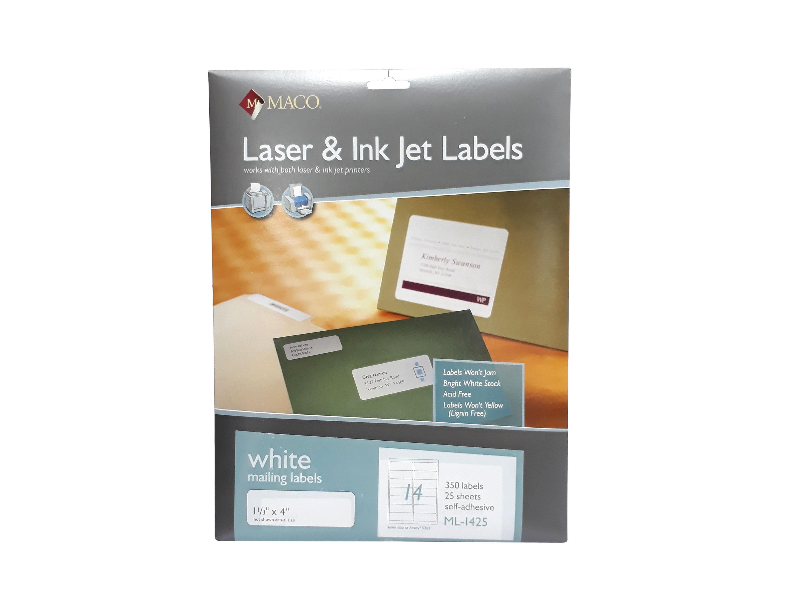 ETIQUETAS 1 1/3X4 ML-1425 LASER & INK-JET