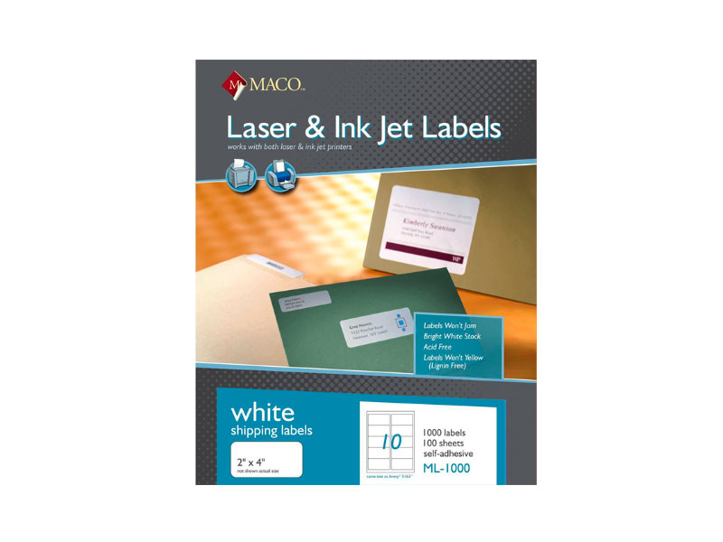 ETIQUETAS 2X4  ML-1025  INK-JET