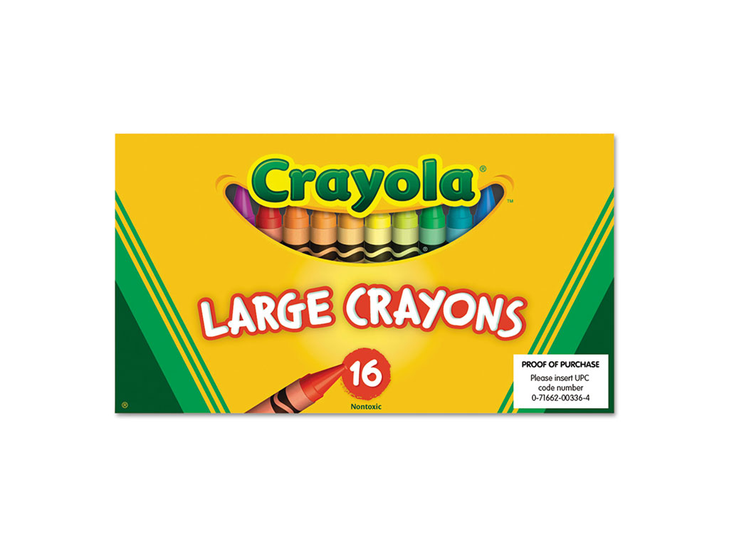 CRAYONES 16 COLORES JUMBO 52-0336