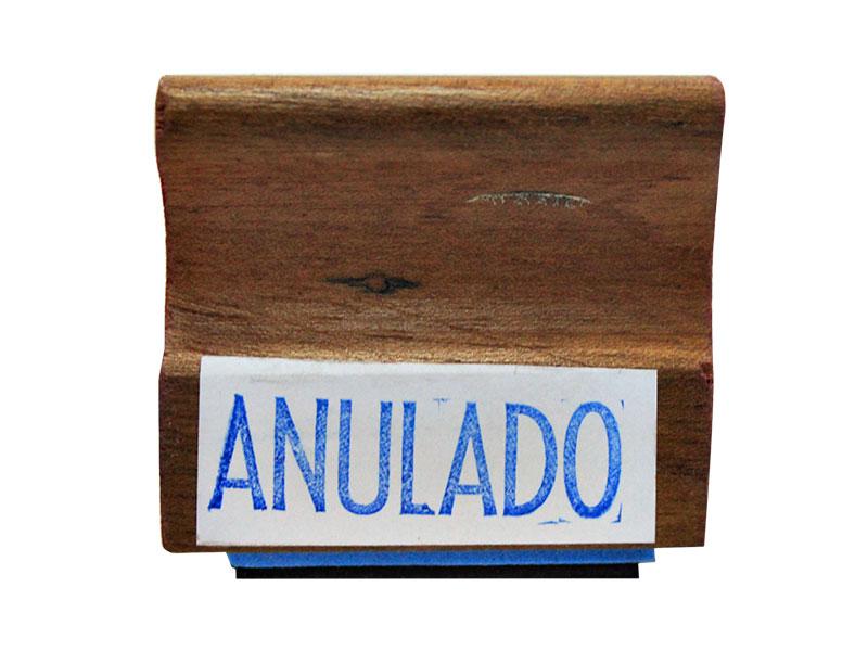 SELLO DE MADERA ANULADO