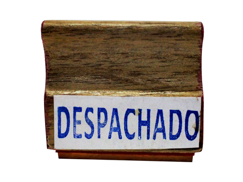 SELLO DE MADERA DESPACHADO