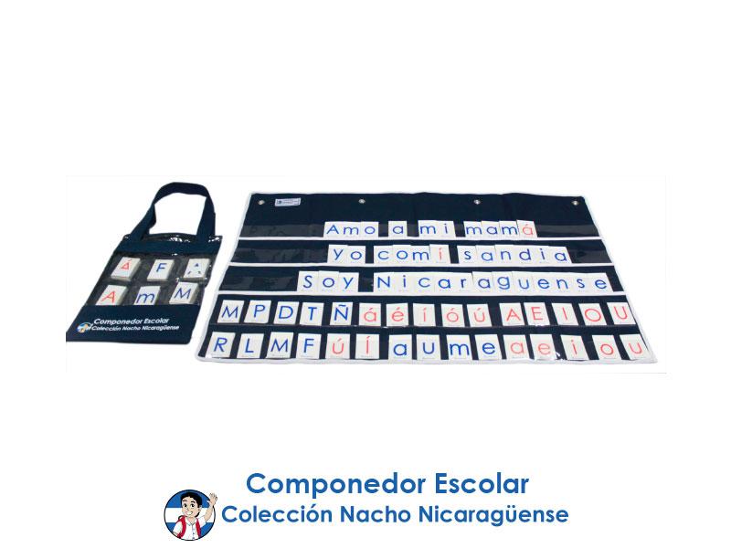 COMPONEDOR ESCOLAR COLECTIVO 46'' X 28 1/2 (196 LETRAS)
