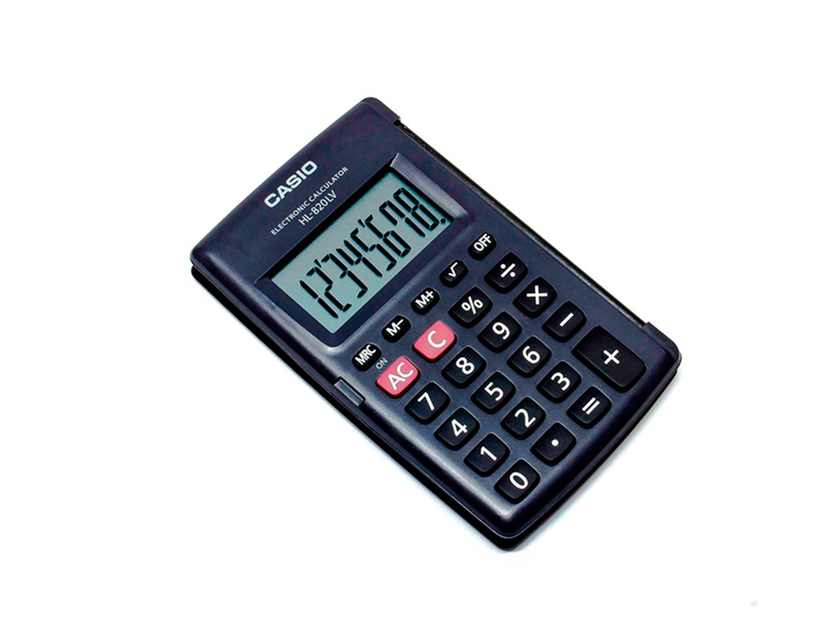CALCULADORA 8 DIGITOS HL 820 LV NEGRO