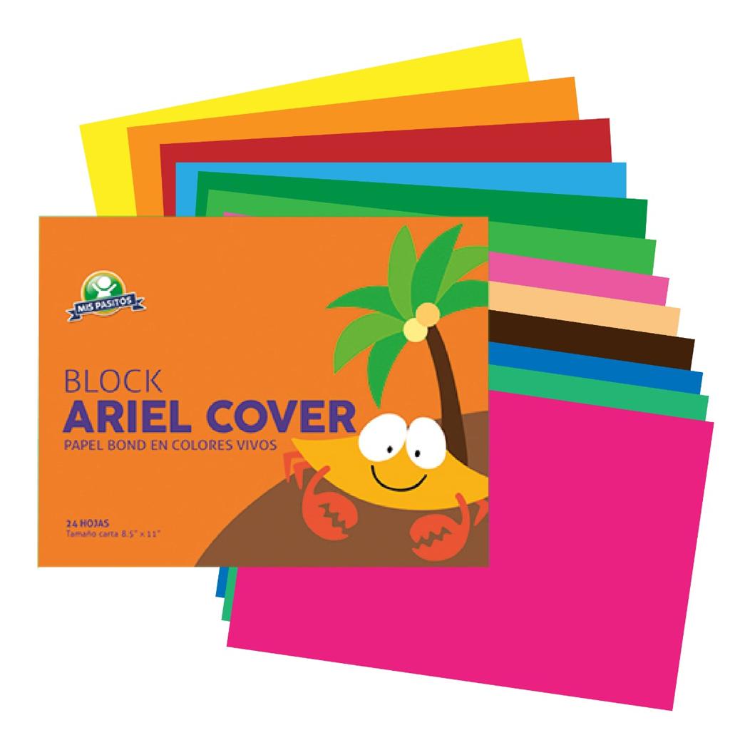 BLOCK PAPEL BOND ARIEL COVER 24H T/C