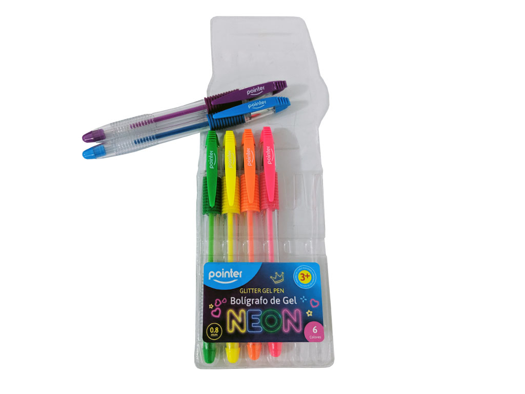 LAPICERO GEL NEON 1501-6 SET 1/6