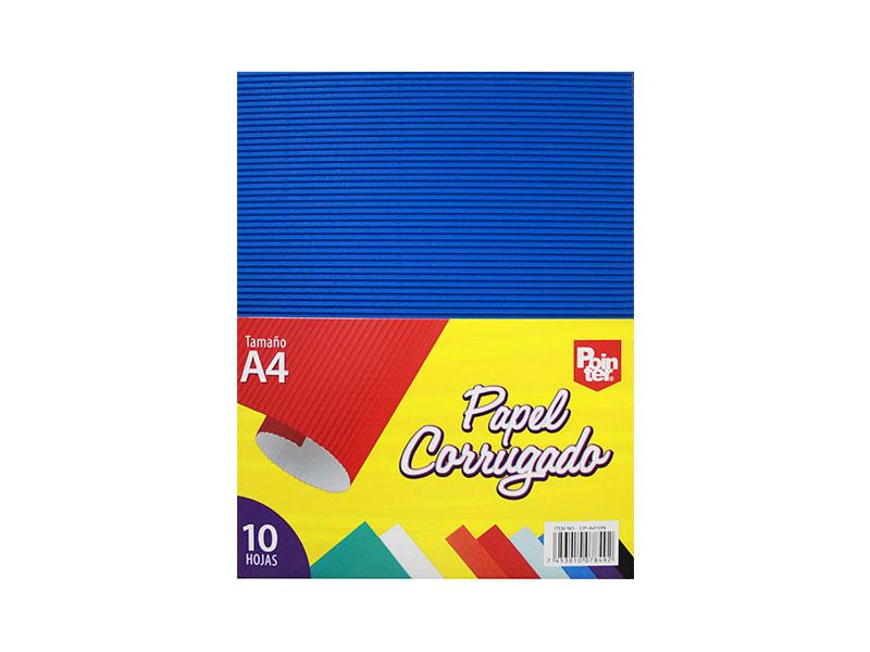 PAPEL CORRUGADO A4 CP-A410N COL. SURTIDO