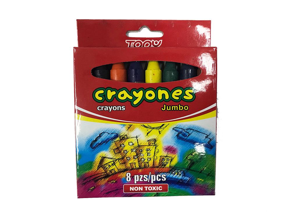 CRAYONES 8 COLORES JUMBO T-1108