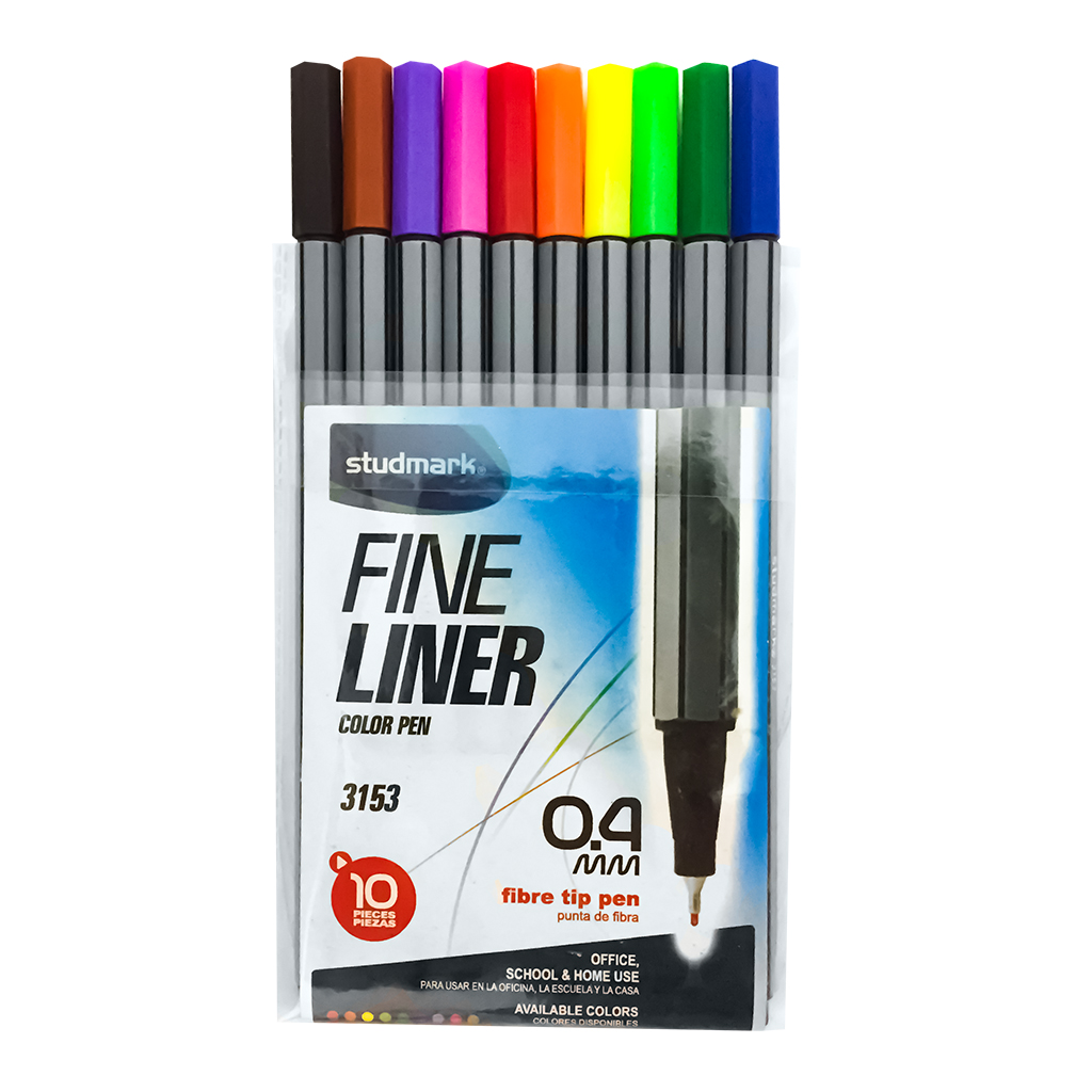 MARCADOR ESCOLAR 10 COLORES ST-03153 FINELINER