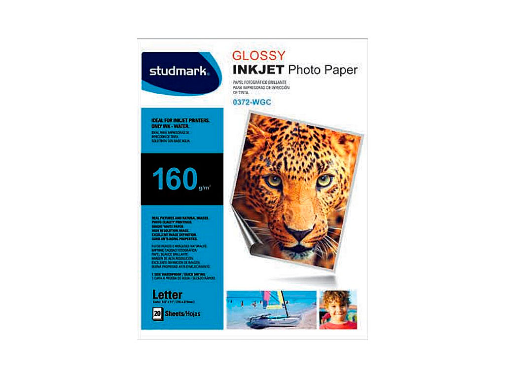 PAPEL FOTOGRAFICO GLOSSY ST-00372-WGC 20H